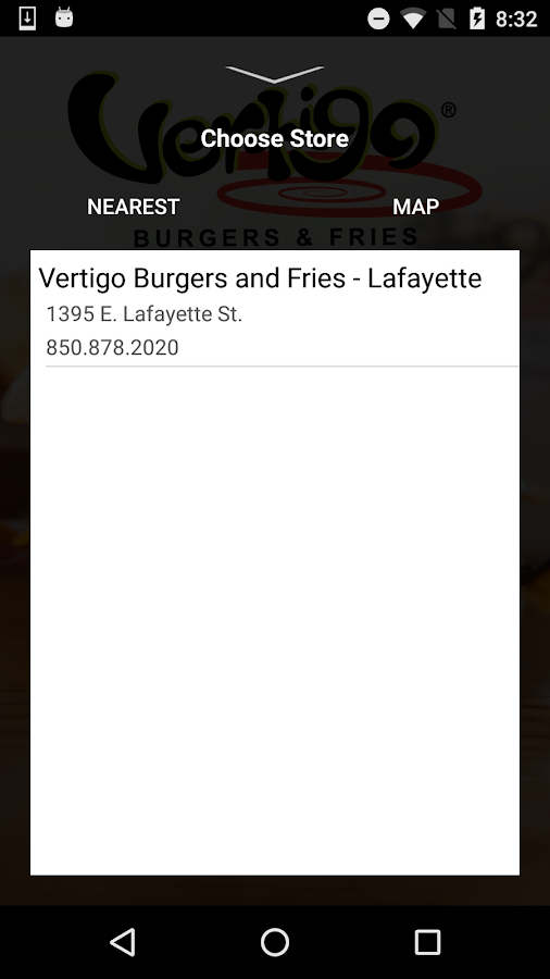 Vertigo Burger and Fries- screenshot
