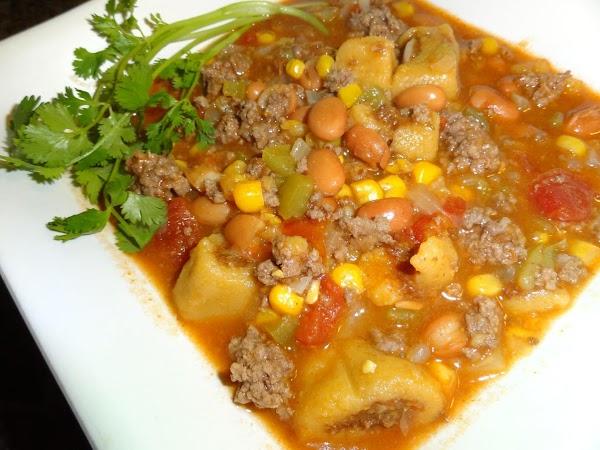 Stir in tamale pieces.  Serve hot.