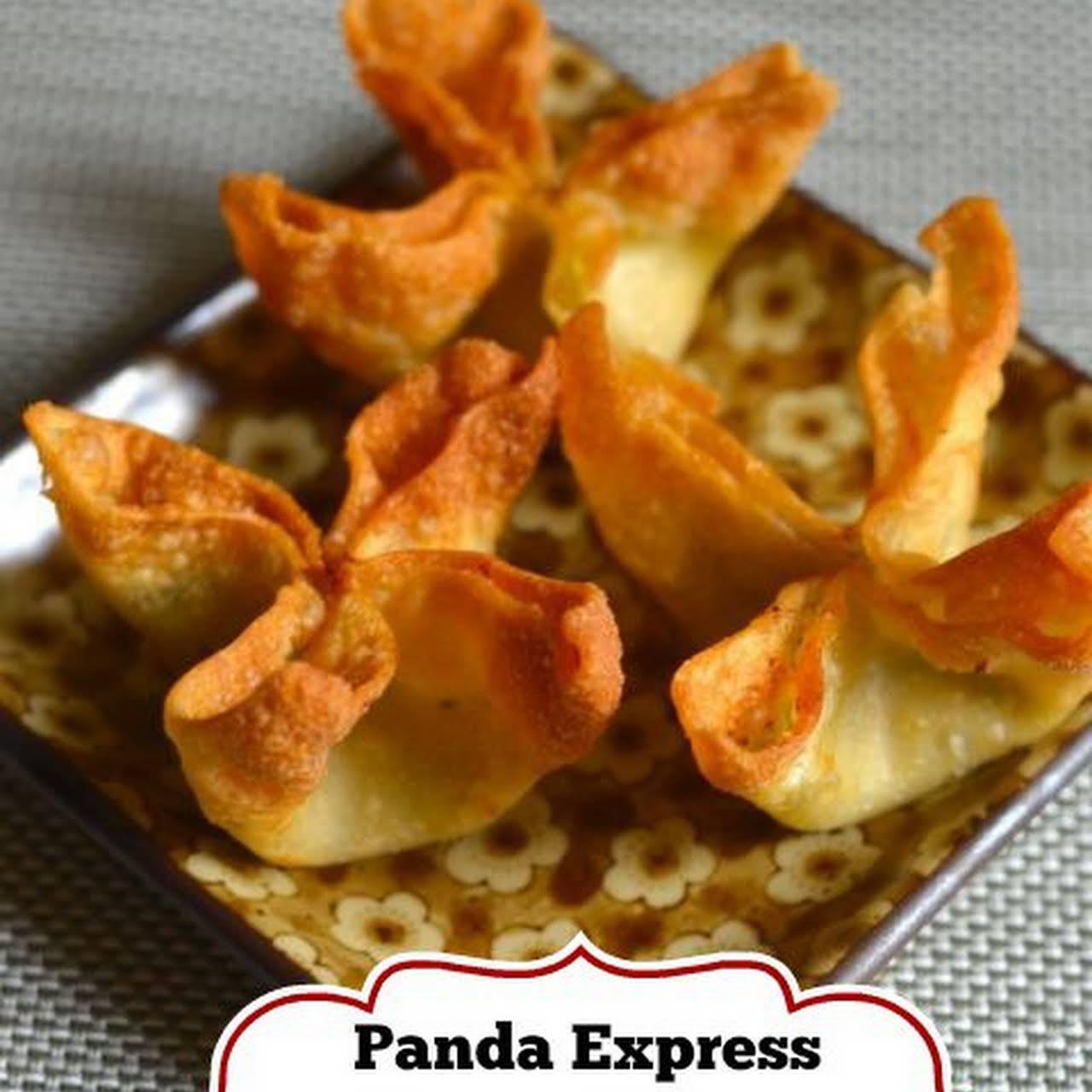 Panda  manner Cream Cheese Wontons