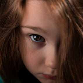 I see you by Bethany McGregor - Babies & Children Child Portraits ( bug, moody, fine art, kid, dark, brown eyes, brown hair, child,  )