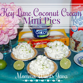 Key Lime Coconut Cream Mini Pies