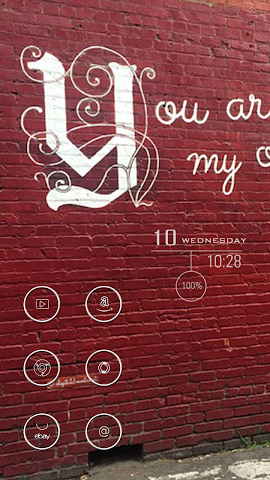 android Red Wall Theme Screenshot 1