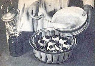Photo: Töltött almák vaníliakrémben, tűzálló tálban. - Jabłka nadziewane.