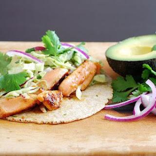 Chili-orange Salmon Tacos With Avocado Coleslaw
