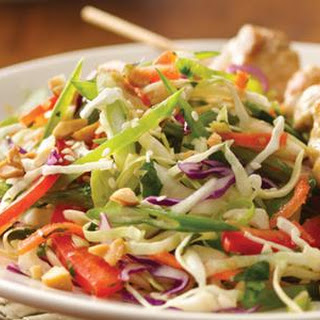 Asian Coleslaw with Ginger Soy Dressing.