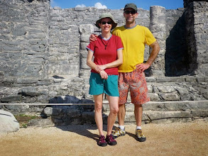 Photo: My parents on vacation at the Tulum ruins in Mexico. At least one of them looks awkward in most pictures of just the two of them so I think this one is a real keeper.