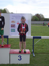 Photo: Dillon Ryan, Moycarkey Coolcroo A.C., 3rd in the Boys U/10 60m sprint at St. Lawerence O'Toole Sports 2012.