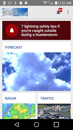 Local Weather Radar Forecast Screenshot
