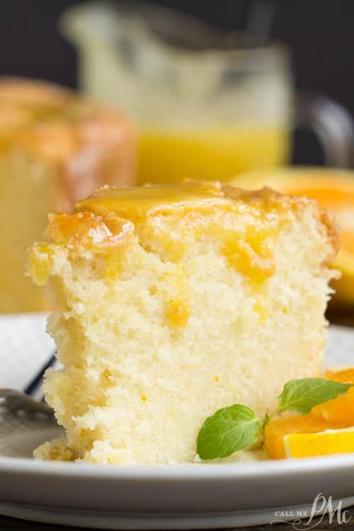 """Scratch-made Orange Zest Pound Cake with Orange Curd """"Scratch-made Orange Zest Pound..."""