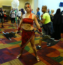 Photo: A female Kratos from God of War