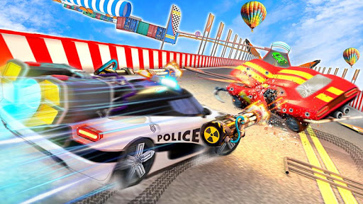 Police Car Chase GT Racing Stunt: Ramp Car Games android2mod screenshots 2