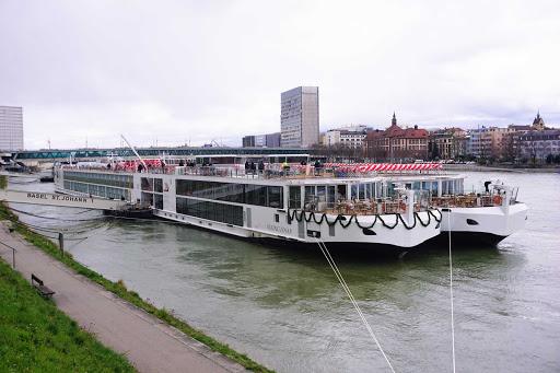 The 190-passenger Viking Einar docked in Basel, Switzerland.