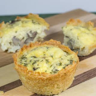 Mashed Potato Crusted Muffin Tin Mushroom Quiche.