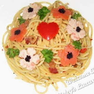 Flower Garden Aglio Oiio With Caviar
