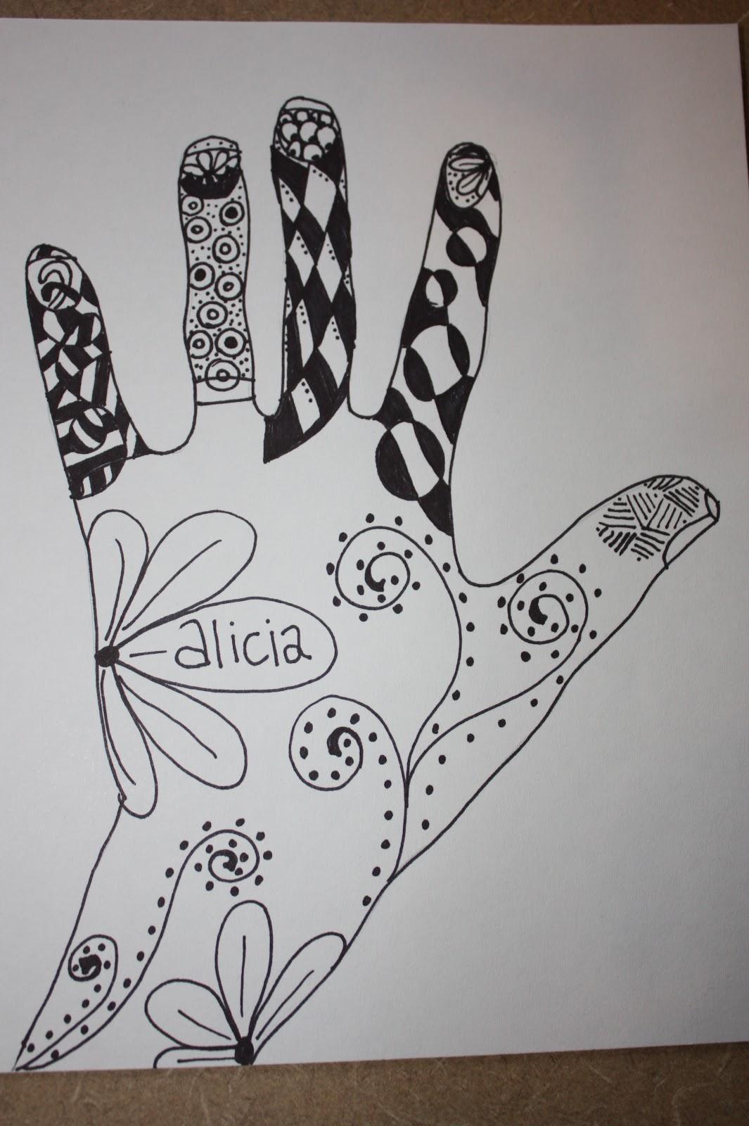 art a baloo crew zentangle hand art