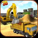 Heavy Excavator Crane Sim icon