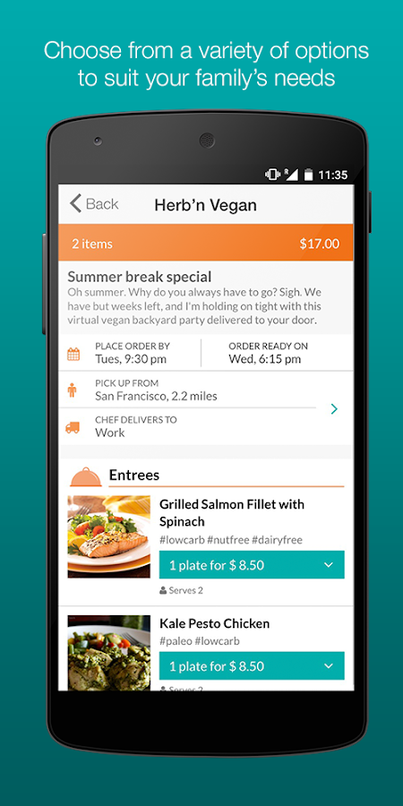 Taro - food and meal delivery- screenshot
