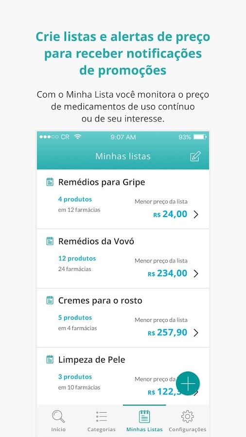 Screenshots of Consulta Remédios - Economize na Farmácia com o CR for iPhone