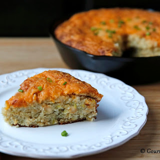 "Cheddar Green Chile ""Cornbread"" - Low Carb"