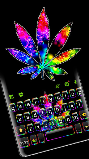 Colorful Weed Keyboard Theme ss1