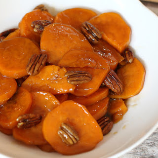 Simple Candied Sweet Potatoes With Toasted Pecans