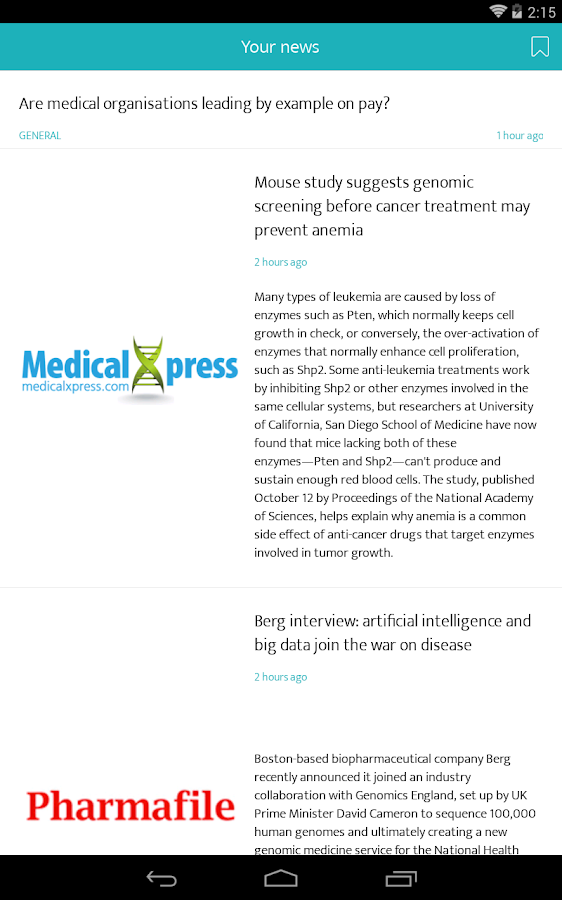 MedZine News- screenshot