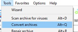 Convert Archives