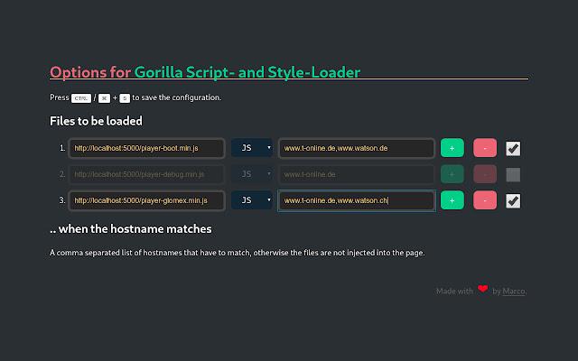 Gorilla Script- and Style-Loader