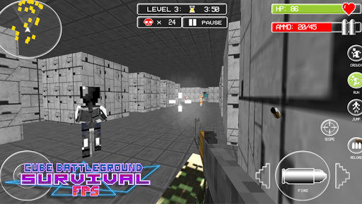 Cube Battleground Survival FPS