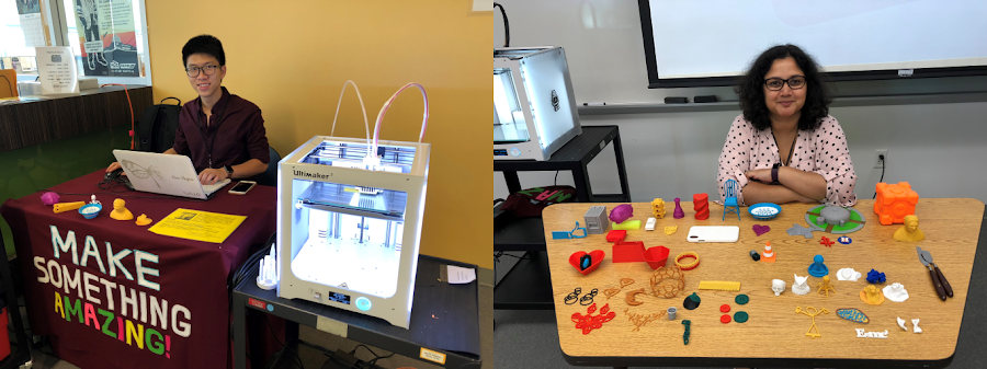 Rumela Bose and Tri Tran of Houston Community College bring 3D printing to students with their MakerSpaces