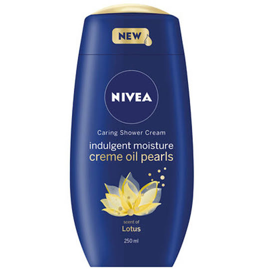 Nivea Caring Shower Cream Indulgent Moisture Creme oil Pearls Lotus, 250ml
