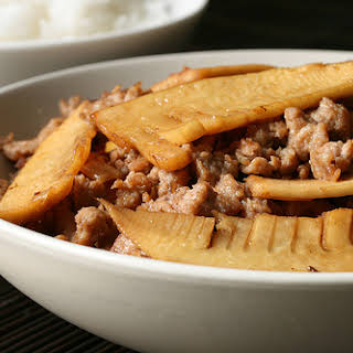 Fresh Bamboo Shoots with Pork.