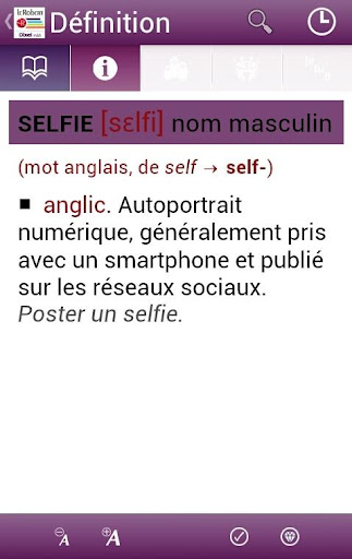 Screenshot for Dictionnaire Le Robert Mobile in Hong Kong Play Store