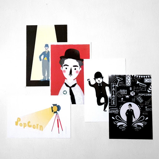 cartes postales Charlie Chaplin PopCorn éditions du maïs soufflé