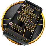 Black Gold SMS Theme file APK Free for PC, smart TV Download