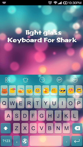 Emoji Keyboard-Light Glass