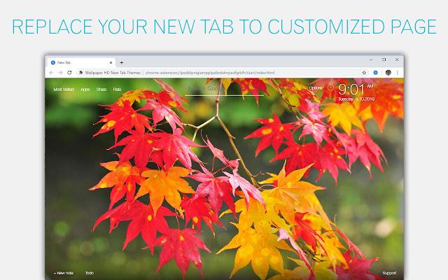 Autumn Fall Wallpaper HD Custom New Tab