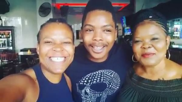 Zodwa Wabantu, with her boyfriend Ntobeko and his mother Khanyo came out to shut down rumours of not getting along.