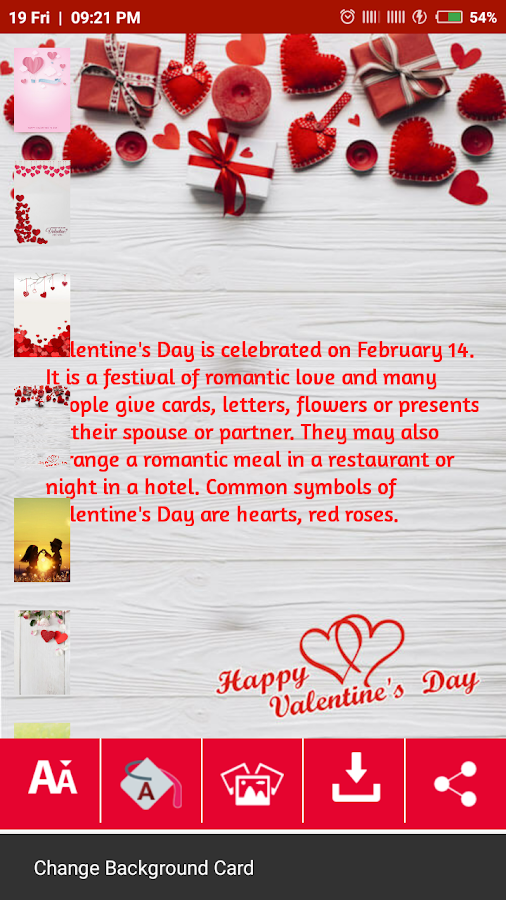 Valentine Day Card Maker - Android Apps on Google Play