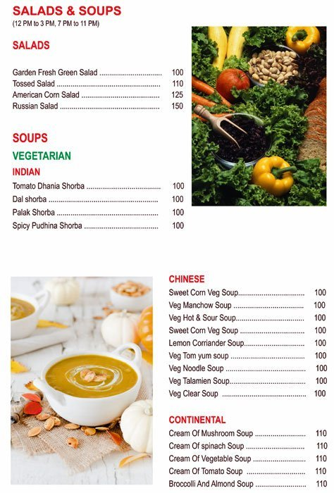 Chef's Bank menu 1