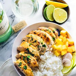 Chili Lime Mango Marinated Chicken Bowls {Gluten Free, Healthy, Dairy Free}