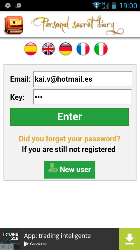Personal Diary Password- screenshot