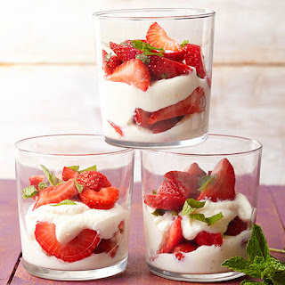 Gluten Free Sweet Ricotta and Strawberry Parfaits.