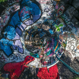 Quincy Quarries by Paul Gibson - Abstract Patterns ( boston, street art, massachusetts, graffiti, colors, colorful )
