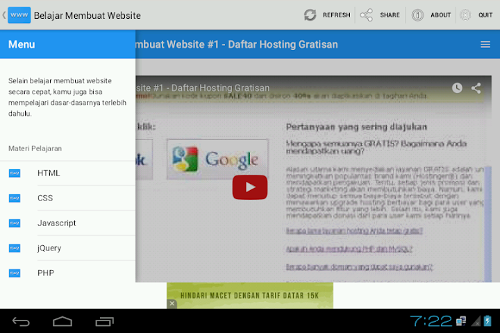 android Belajar Membuat Website Screenshot 2