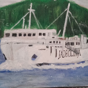 Ship Lastovo by Vanja Škrobica - Painting All Painting
