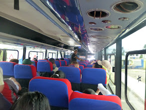 Photo: Inside the bus from Ambato to Banos