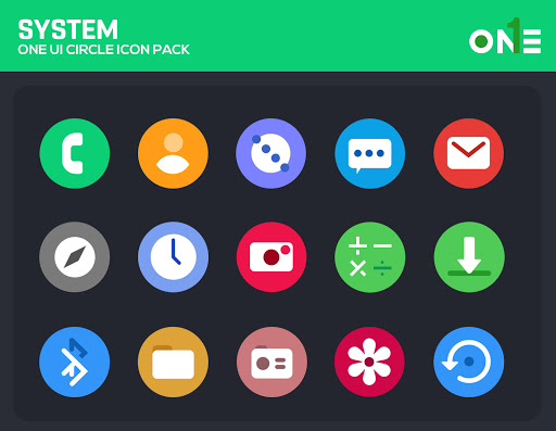 Screenshot for OneLook Circle Icon Pack - ONE UI in United States Play Store