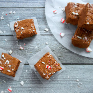 Peppermint Mocha Fudge Made With International Delight Coffee Creamer