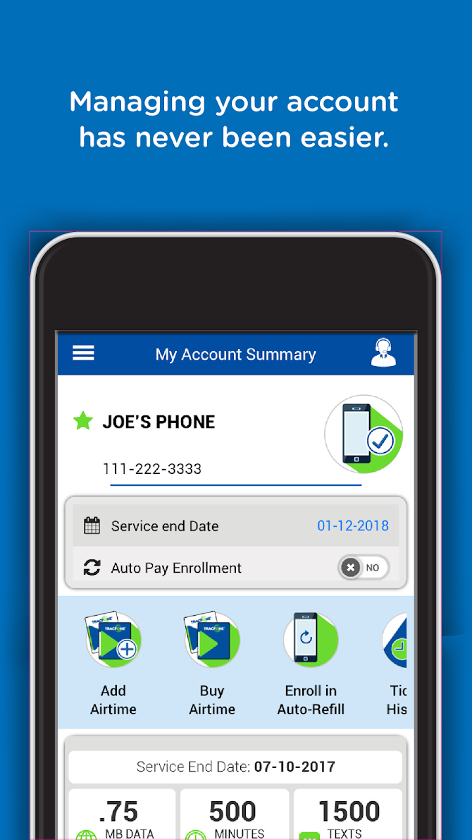 TracFone My Account Android 1